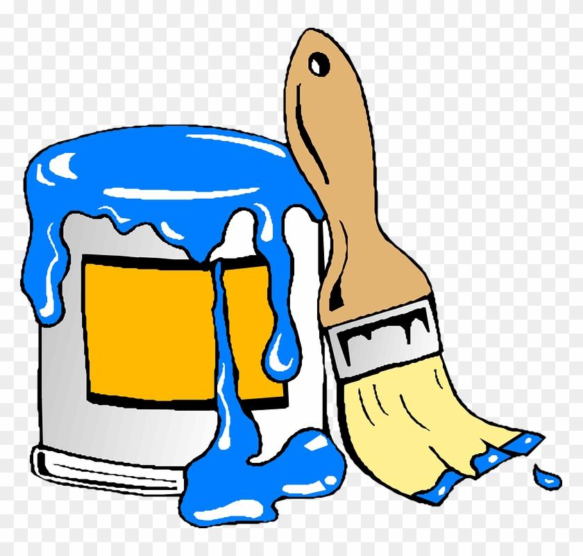 Paint Can Brush Clip Art - Paint Can Clipart #138871