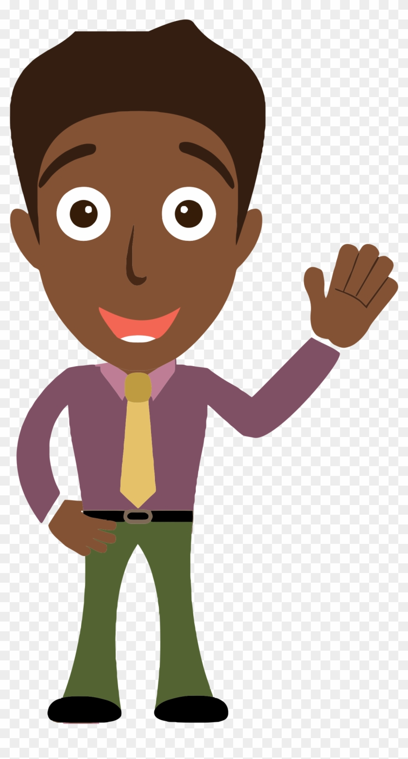 clipart african man says hello waving hello clipart free