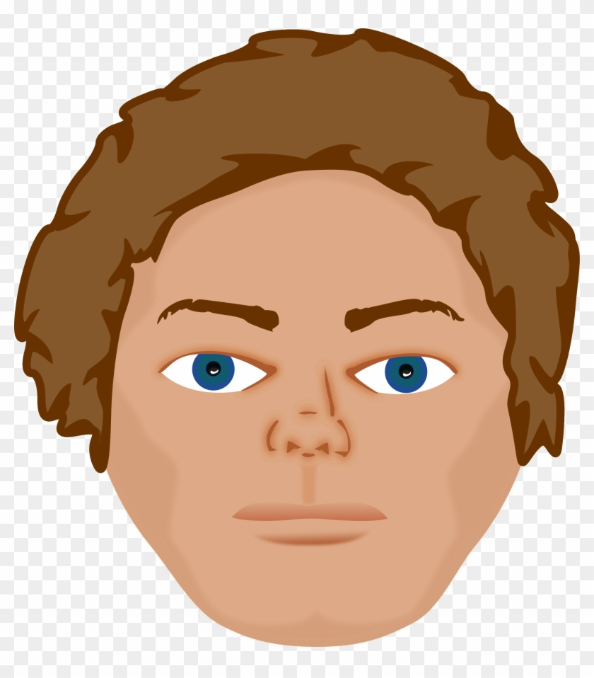 Young Man Clipart, Vector Clip Art Online, Royalty - Young Man Face Cartoon #139051