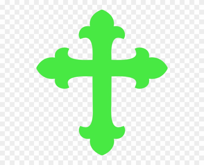 Bright Green Cross Clip Art - Baptism Cross #139281