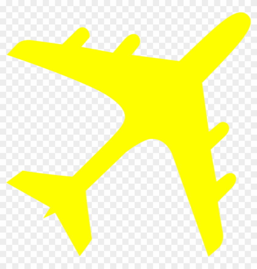 Jet Clipart Yellow - Yellow Airplane Clipart #139293