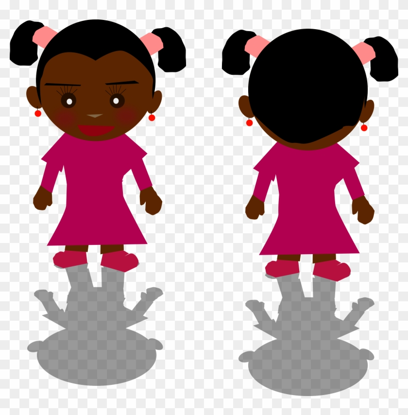 Clipart Of A Black Girl Png - Girl Png Clipart #139405