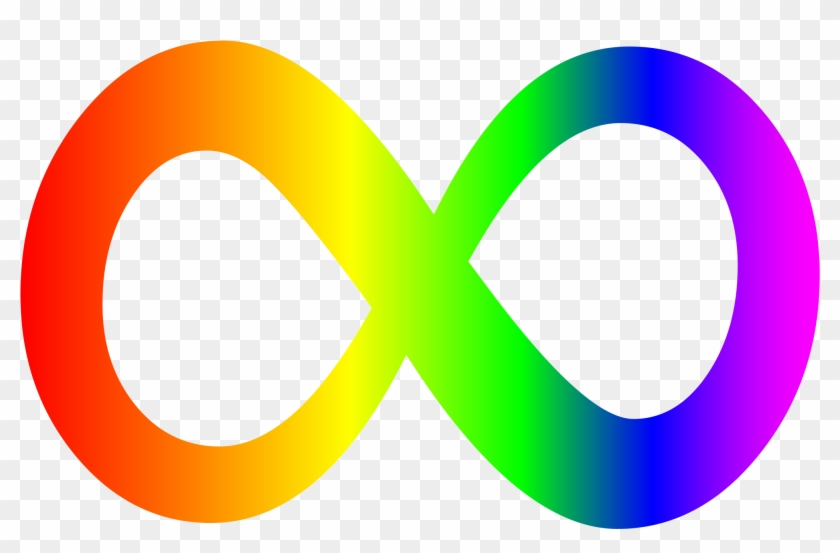 The Rainbow Colored Infinity Symbol Represents The Autism Infinity