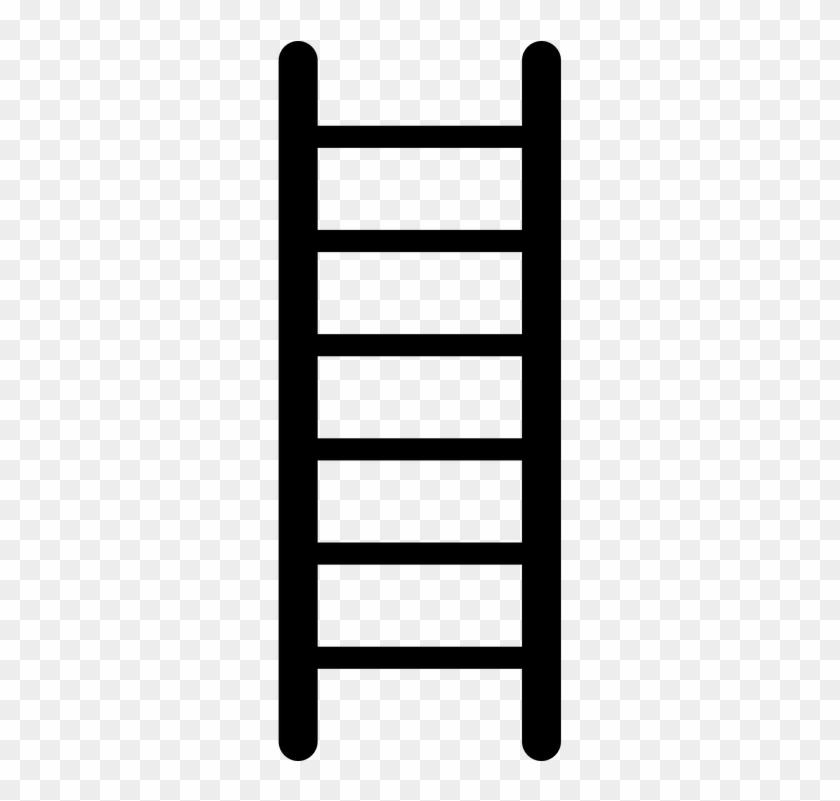 Ladder Steps Notches Success Business Career High - Tangga Animasi Png #139540