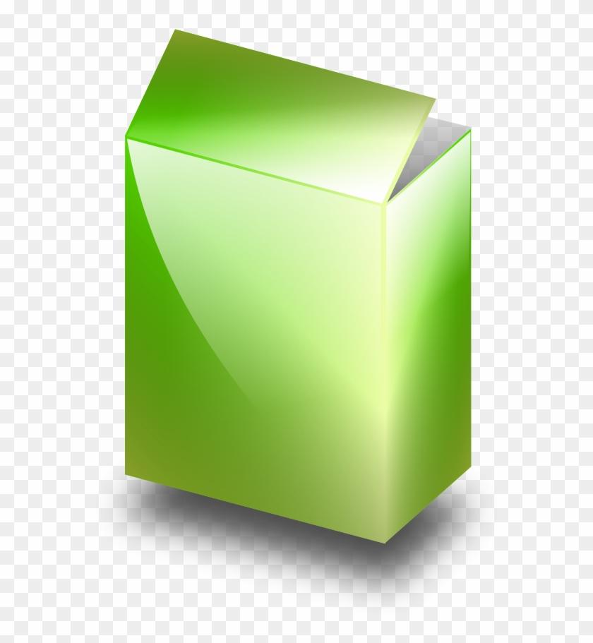 Green Box Small Clipart 300pixel Size, Free Design - Box #139550