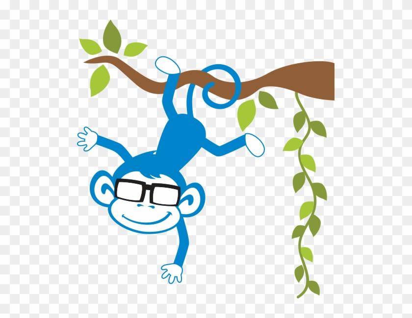 Bluemonkey - Adesivo De Parede Quartinhos Macacos Amigos Colorido #139611