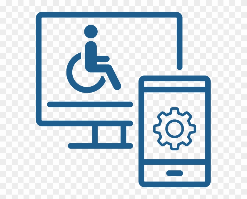 Computer Screen And Cell Phone - Assistive Tech Clip Art #139873