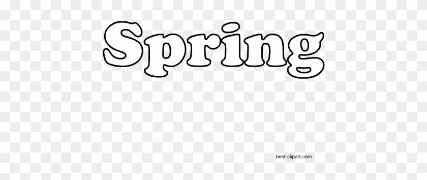 Word Spring Written In Black And White Free Clip Art - White #139920