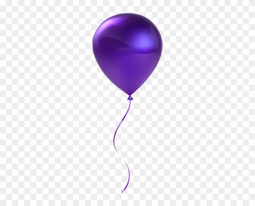 Single Purple Balloon Transparent Clip Art - Clip Art Purple Balloons #139925