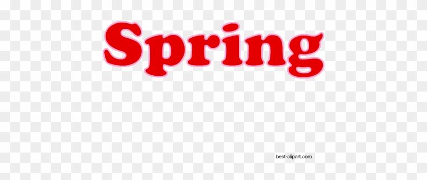 Word Spring Written In Red, Clip Art - Keep Colorado Springs Lame #139929