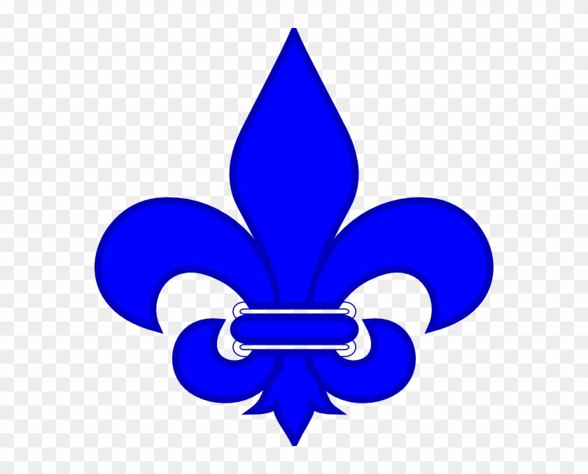 Royal Blue Fleur De Lis Clip Art At Clker - St Joan Of Arc School Logo #139935
