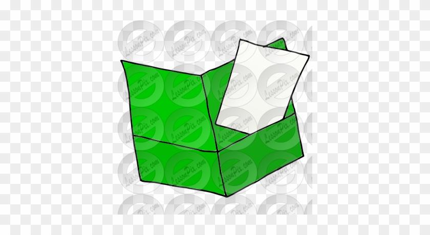 Put Paper In Folder Picture - Illustration #140376