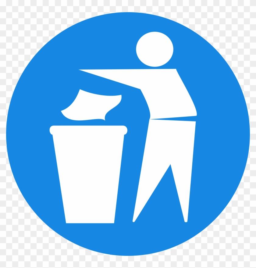 Rubbish In Bin Signs 1 - Remove Clipart #140463