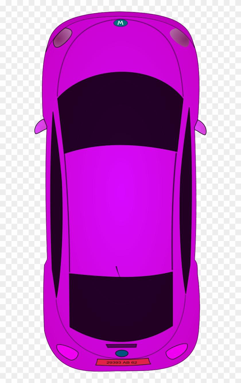 Clipart Car Top View Image Of 8571 Modern Vector - Cartoon Car From Birds Eye View #140592