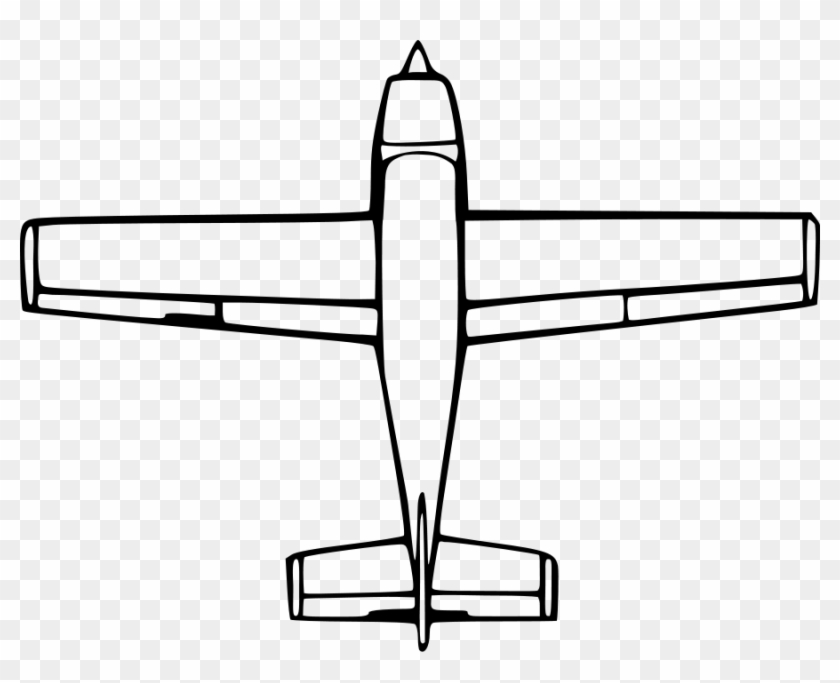 Top Down Airplane View Clipart, Vector Clip Art Online, - Birds Eye View Of A Plane #140684