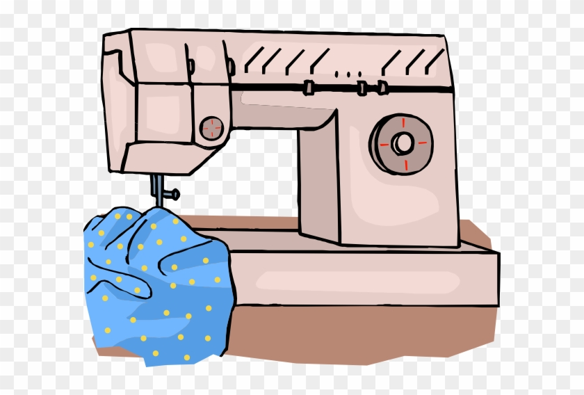 Free Vector Sewing Machine Clip Art - Sewing For Beginners: How To Sew Beautiful Sewing, #140696