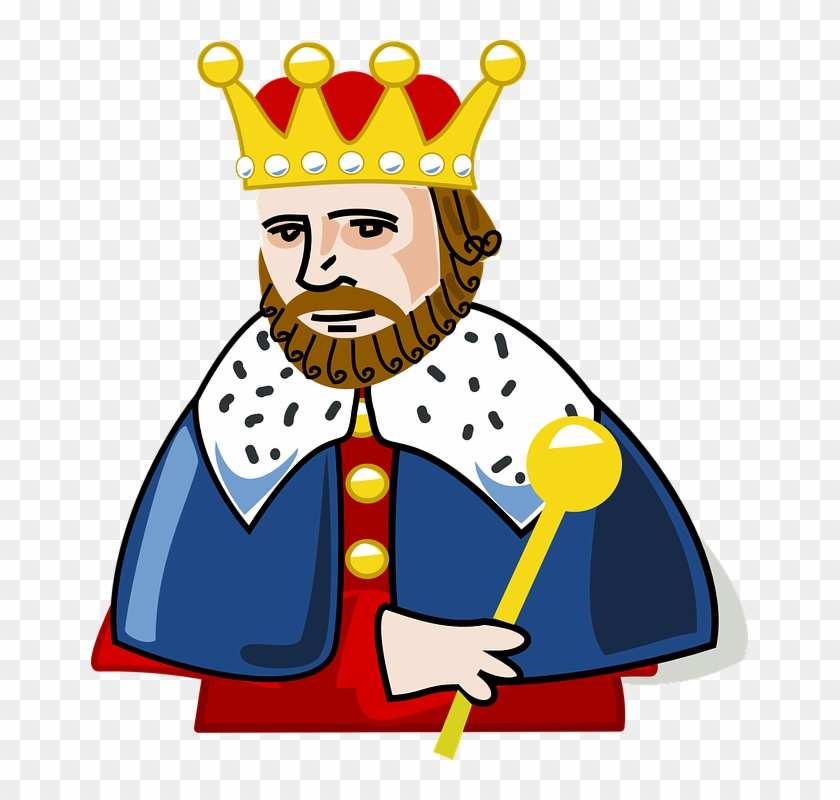 King Crown Beard Insignia Power Scepter Sceptre - King Clipart Png #140703