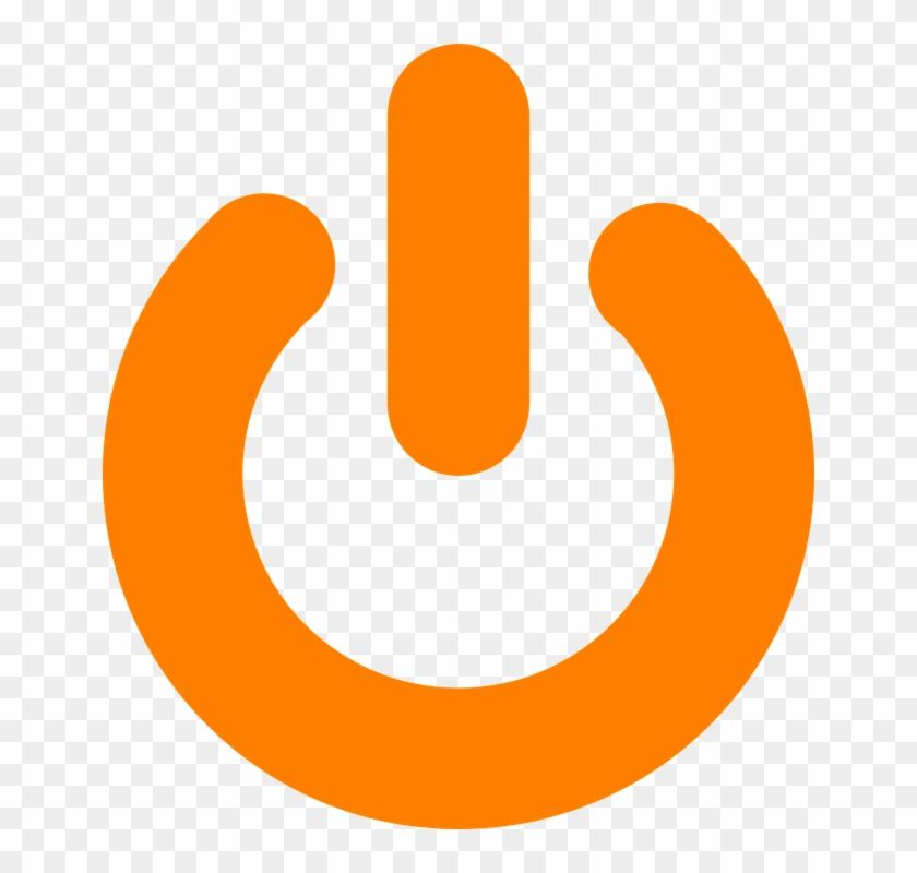 Orange Power Button Svg Clip Arts 540 X 596 Px - Exit Icon Png Orange #140713