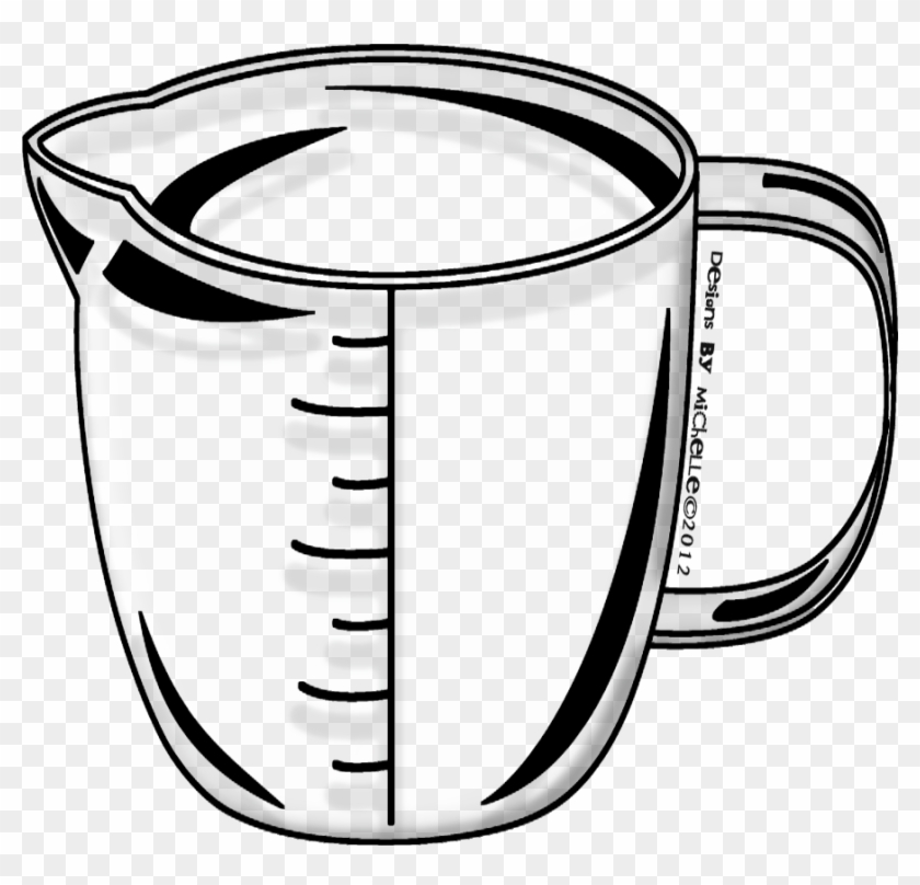 I Always Despise It When Clip Art In Jpeg Form Includes - Measuring Cup Black And White Clipart #140718