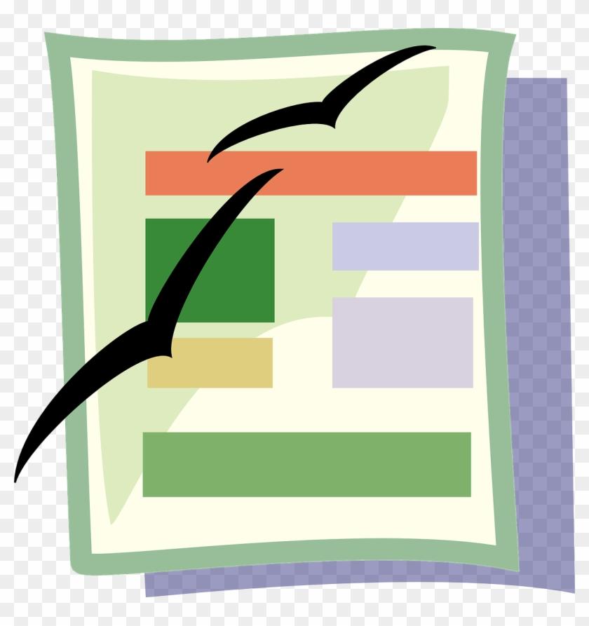 Open Office Text Document - Spreadsheet Clipart #140826