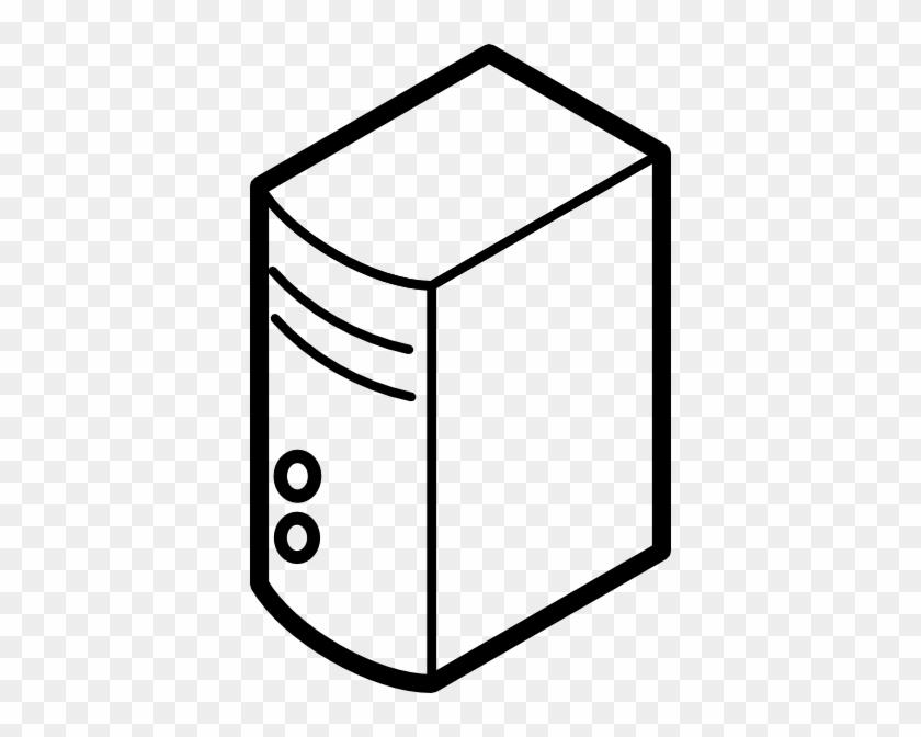 Free Vector Server Outline Clip Art - Server Outline #140964