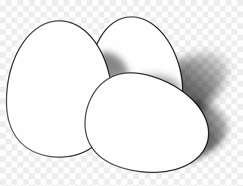 Easter Egg Clip Art - Eggs Black And White #141421
