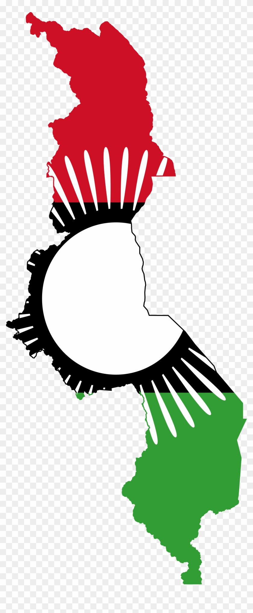 Open - Malawi Map With Flag #141495