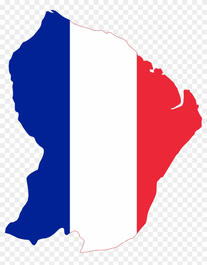 Flag Map Of French Guiana - French Guiana Flag And Map Throw Blanket #141547