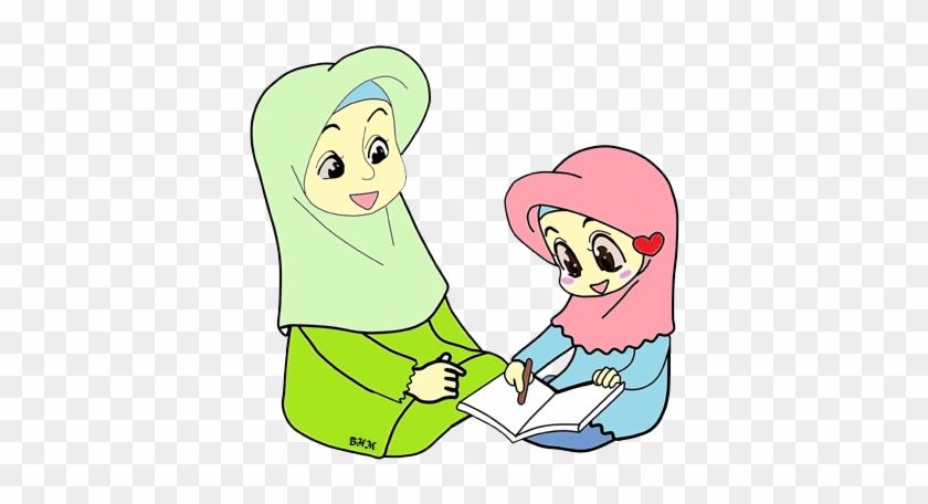 Ibu Clipart Kartun Ibu Dan Anak Muslim Free Transparent Png Clipart Images Download