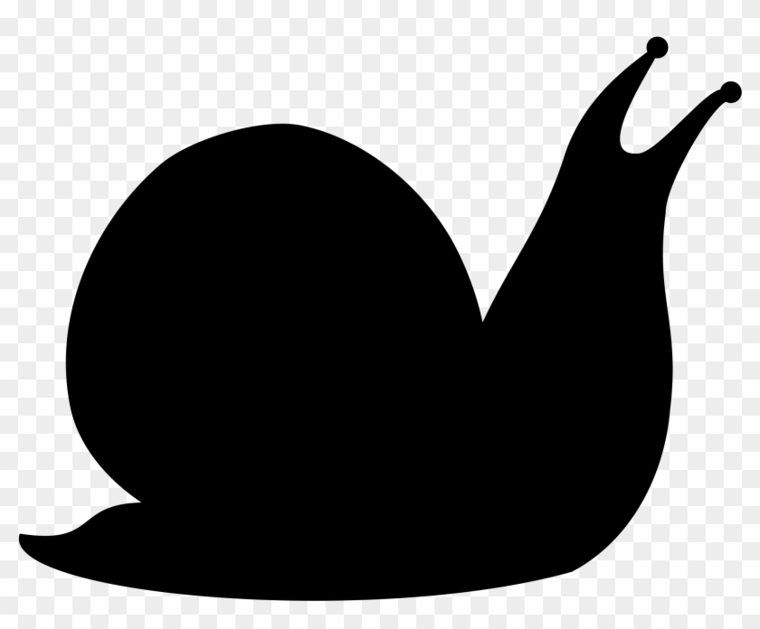 Snail Silhouette By @snifty, A Silhouette Of A Snail, - Snail Silhouette Clip Art #141938