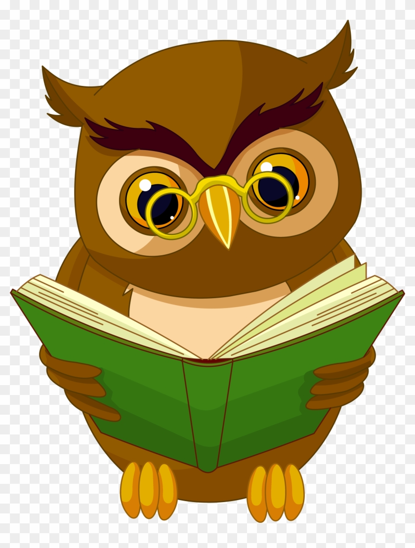 transparent owl with book png clipart picture - transparent