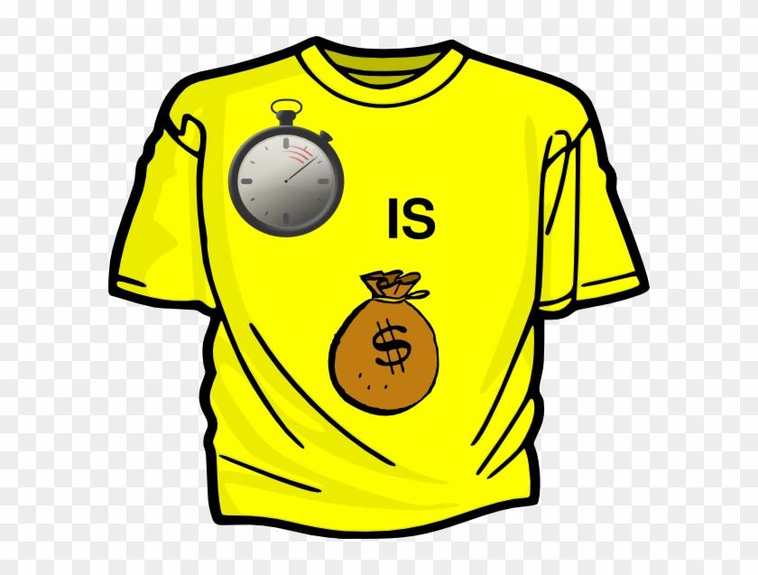 Time Is Money Clip Art At Clker - T Shirt Clip Art #142079