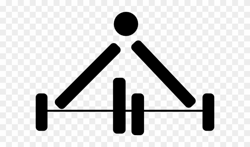 Black Gym Clip Art At Clker - Weight Lifting Symbol #142546