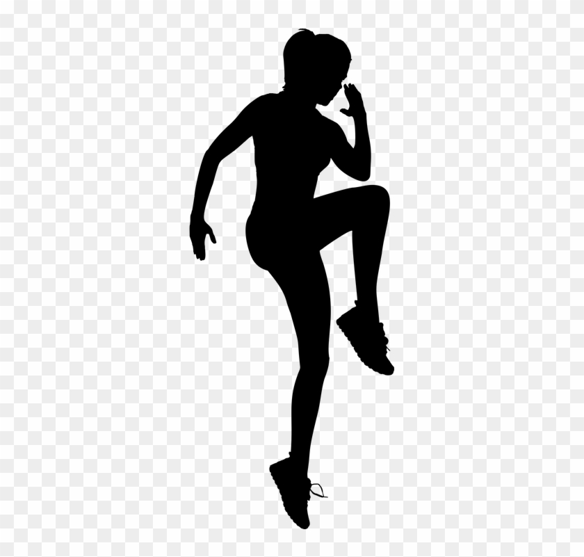 Exercising Female Fitness Girl Health Human - Woman Exercising Silhouette #142680