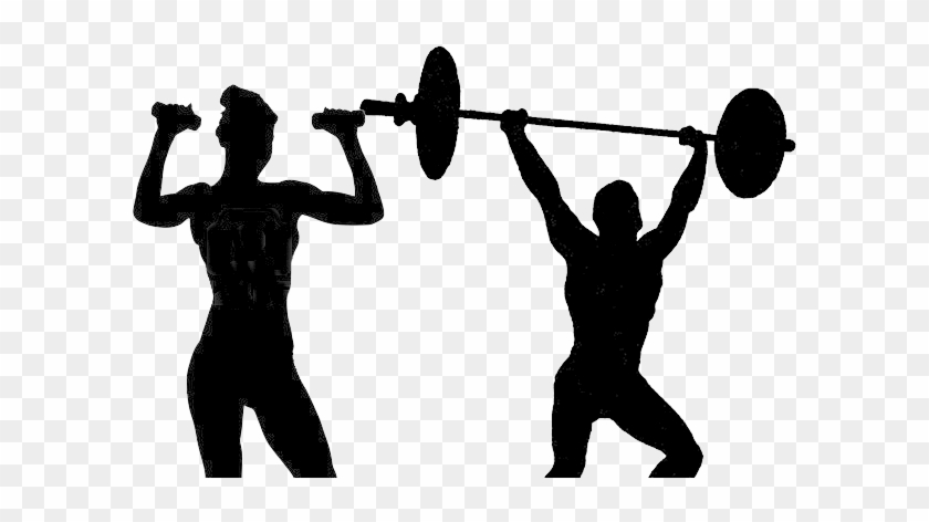 Exercise Silhouette Clipart - Man Lifting Weights Silhouette Png #142693