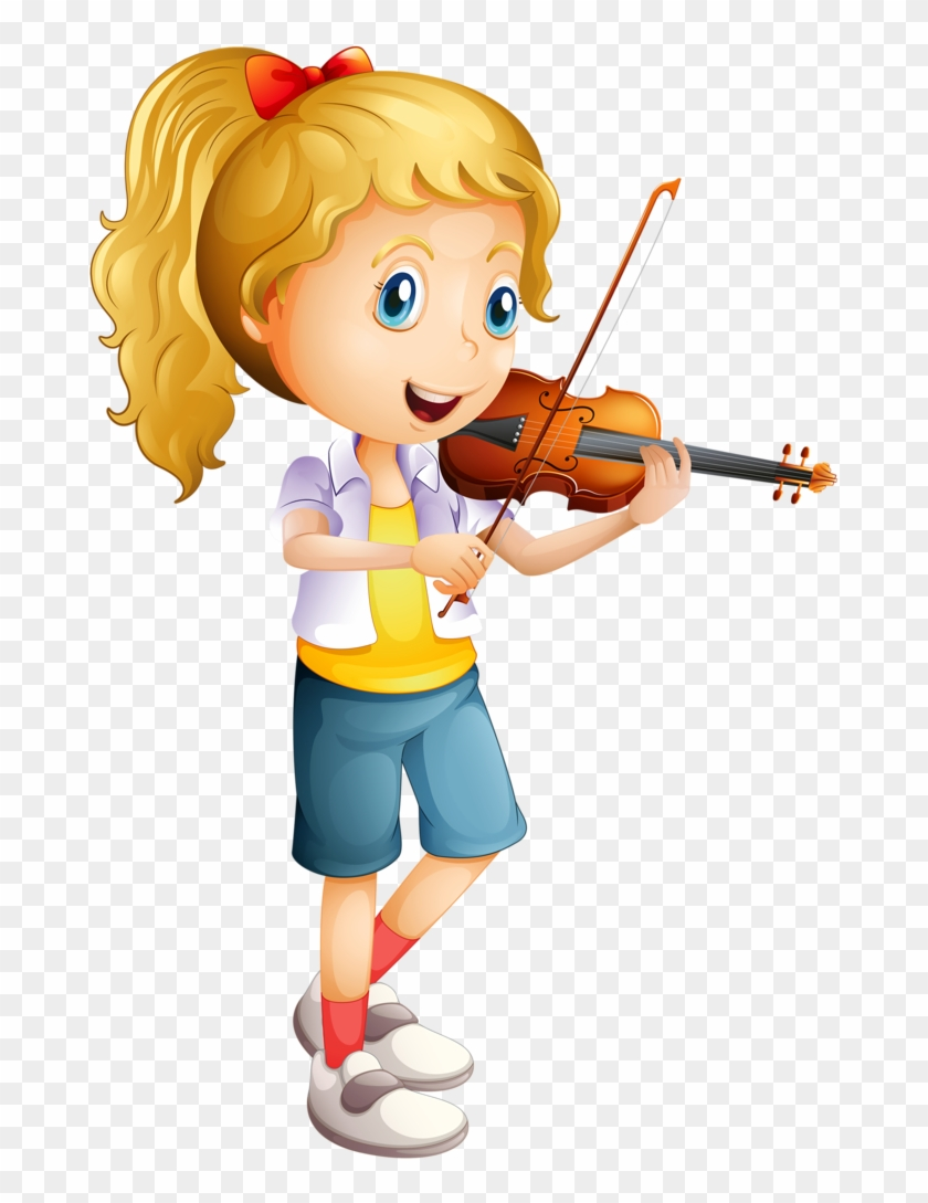 Girl Playing Violin Clipart #143237