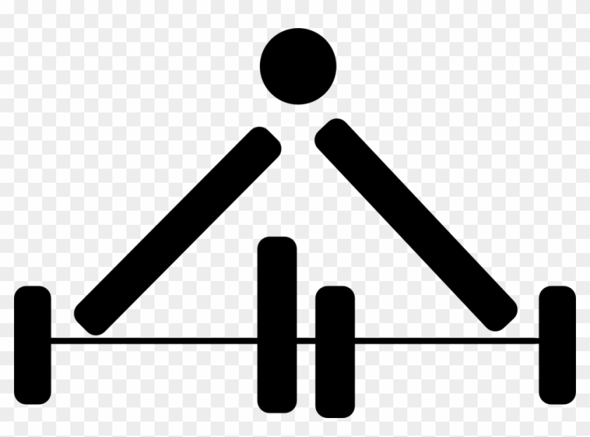 Weight Lifting Bend Male Man Fitness Exercise - Weight Lifting Symbol #143279