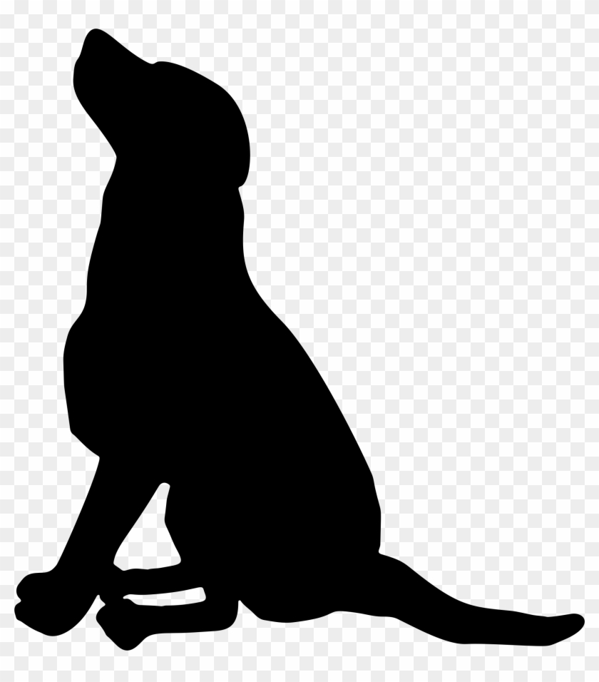 Clipart - Sitting Dog Silhouette Vector #143384