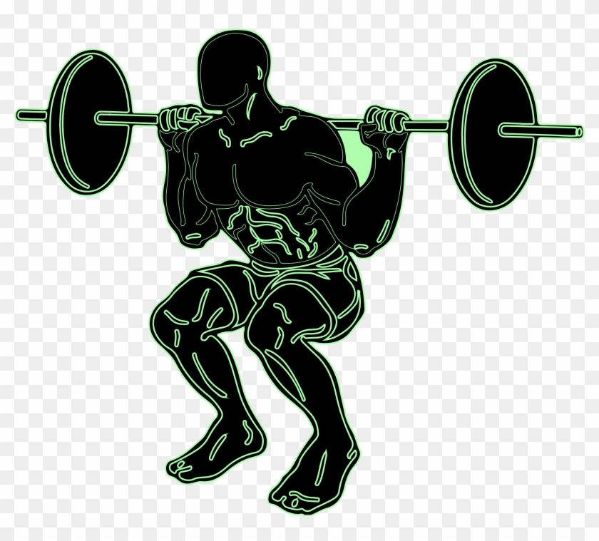 Clipart - Squats With Weights Clipart #143542