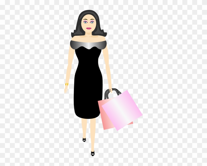 Animated Pictures Of Women - Transparent Female Shopping Clipart #143712