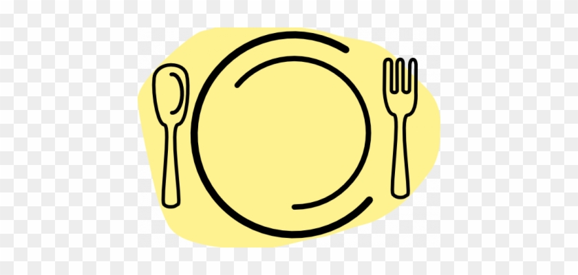 Plate Clipart Gym - Plate Spoon Fork Vector #143824