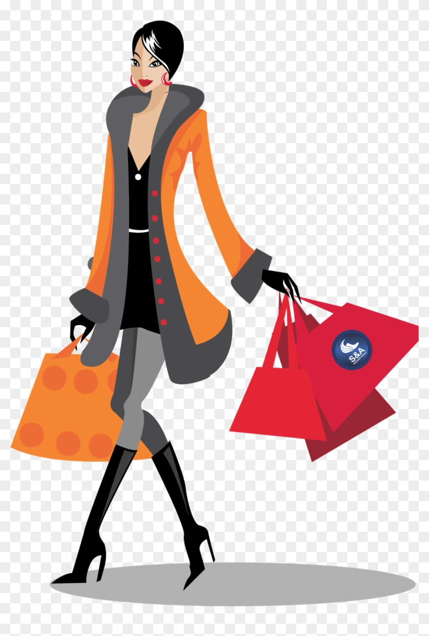 Download Shopping Png File Hq Png Image - Woman Shopping Vector Png #143835