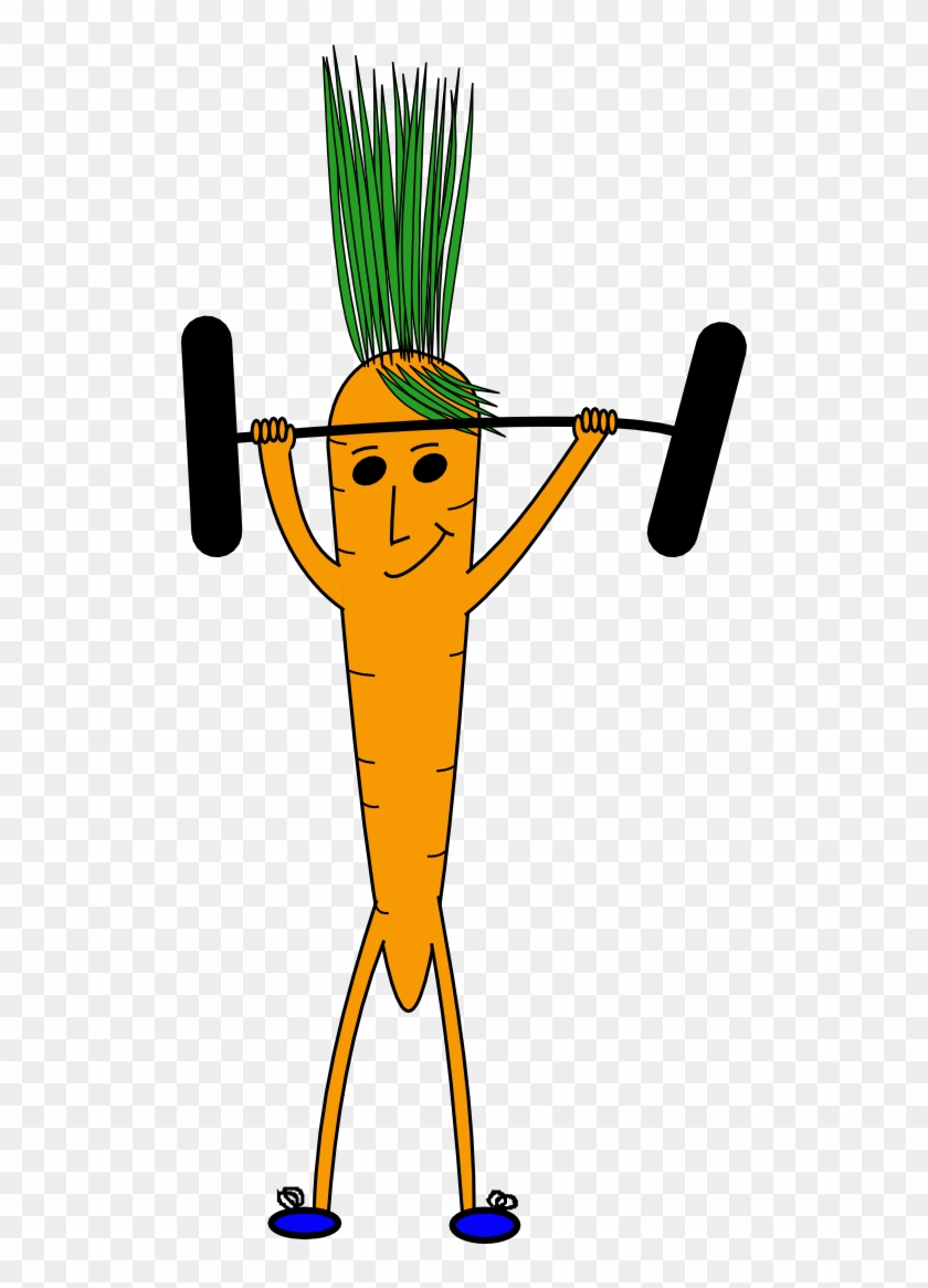 Clipart Weightlifting Carrot - Carrot Lifting Weights #143888