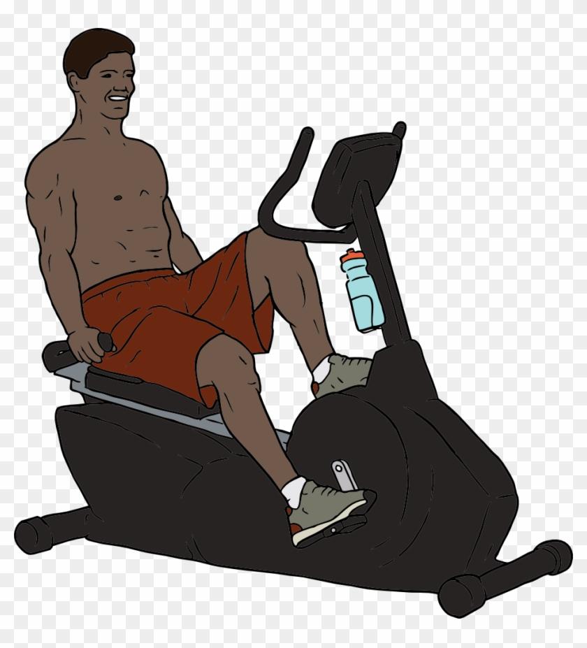 Medium Image - Person On Exercise Bike #144003