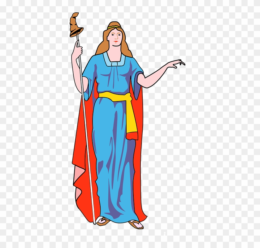 Cartoon Woman Clipart - New York Coat Of Arms #144127