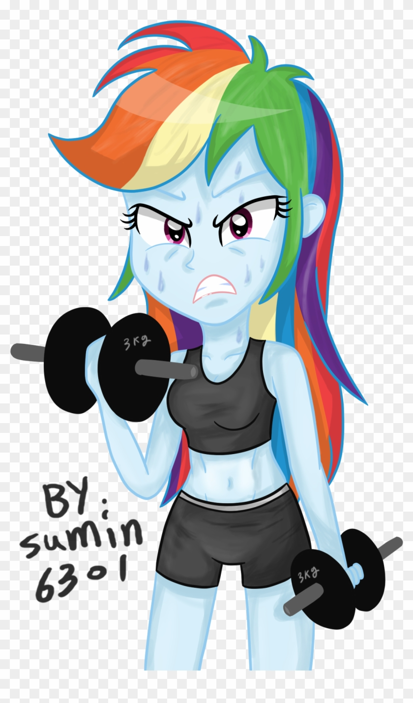 Png By Sumin6301 - Rainbow Dash Working Out #144144