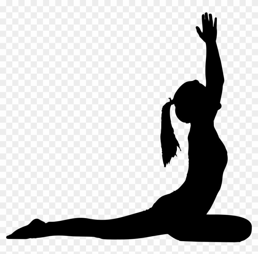 Big Image - Yoga Pose Silhouette Png #144289