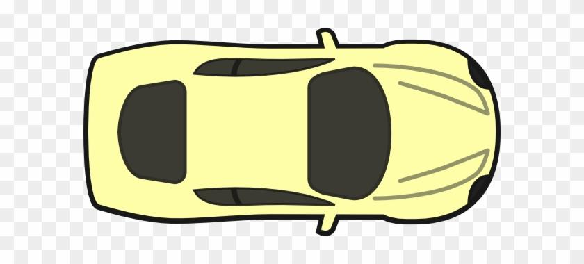 Clipart Car Birds Eye View Yellow Top Clip Art At Clker - Car Drawing Top View #144392