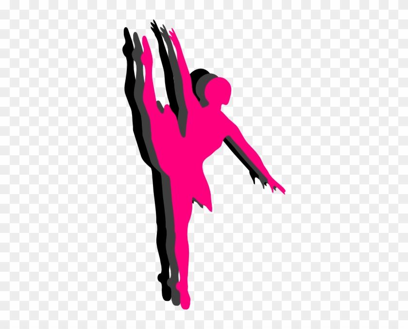 Triple Ballet Dancer Silhouette Clip Art - Dance Clip Art Pink #144412