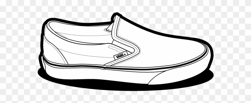 Gym-shoes Clipart Vans Shoe - Vans Slip On Drawing #144444
